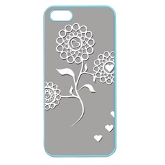 Flower Heart Plant Symbol Love Apple Seamless iPhone 5 Case (Color)