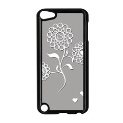 Flower Heart Plant Symbol Love Apple iPod Touch 5 Case (Black)