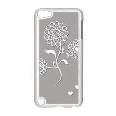 Flower Heart Plant Symbol Love Apple iPod Touch 5 Case (White)