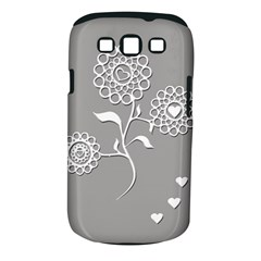 Flower Heart Plant Symbol Love Samsung Galaxy S III Classic Hardshell Case (PC+Silicone)