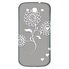 Flower Heart Plant Symbol Love Samsung Galaxy S3 S III Classic Hardshell Back Case