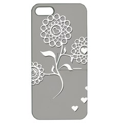 Flower Heart Plant Symbol Love Apple iPhone 5 Hardshell Case with Stand