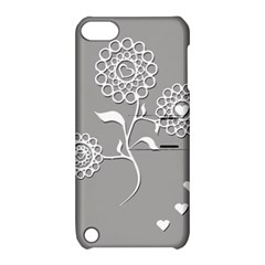 Flower Heart Plant Symbol Love Apple iPod Touch 5 Hardshell Case with Stand