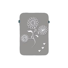 Flower Heart Plant Symbol Love Apple iPad Mini Protective Soft Cases