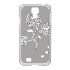 Flower Heart Plant Symbol Love Samsung Galaxy S4 I9500/ I9505 Case (white) by Nexatart