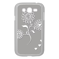 Flower Heart Plant Symbol Love Samsung Galaxy Grand DUOS I9082 Case (White)