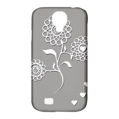 Flower Heart Plant Symbol Love Samsung Galaxy S4 Classic Hardshell Case (PC+Silicone)