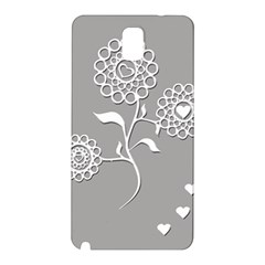 Flower Heart Plant Symbol Love Samsung Galaxy Note 3 N9005 Hardshell Back Case