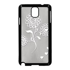 Flower Heart Plant Symbol Love Samsung Galaxy Note 3 Neo Hardshell Case (Black)