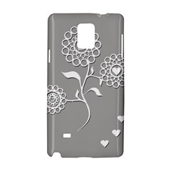 Flower Heart Plant Symbol Love Samsung Galaxy Note 4 Hardshell Case