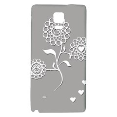 Flower Heart Plant Symbol Love Galaxy Note 4 Back Case