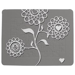 Flower Heart Plant Symbol Love Jigsaw Puzzle Photo Stand (Rectangular)