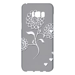 Flower Heart Plant Symbol Love Samsung Galaxy S8 Plus Hardshell Case