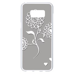 Flower Heart Plant Symbol Love Samsung Galaxy S8 Plus White Seamless Case