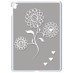 Flower Heart Plant Symbol Love Apple iPad Pro 9.7   White Seamless Case