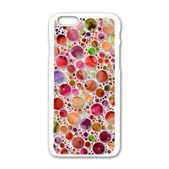 Lovely Shapes 2a Apple Iphone 6/6s White Enamel Case by MoreColorsinLife