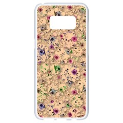 Lovely Shapes 1b Samsung Galaxy S8 White Seamless Case by MoreColorsinLife