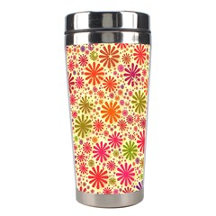 Lovely Shapes 3c Stainless Steel Travel Tumblers by MoreColorsinLife