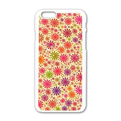 Lovely Shapes 3c Apple Iphone 6/6s White Enamel Case by MoreColorsinLife