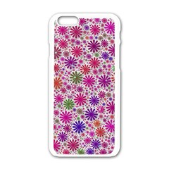 Lovely Shapes 3a Apple Iphone 6/6s White Enamel Case by MoreColorsinLife