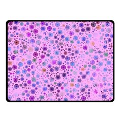 Lovely Shapes 4c Fleece Blanket (small) by MoreColorsinLife