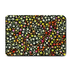 Lovely Shapes 4b Small Doormat  by MoreColorsinLife