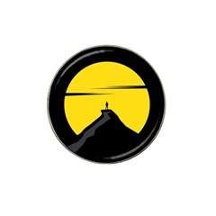 Man Mountain Moon Yellow Sky Hat Clip Ball Marker (4 Pack)