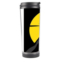 Man Mountain Moon Yellow Sky Travel Tumbler by Nexatart