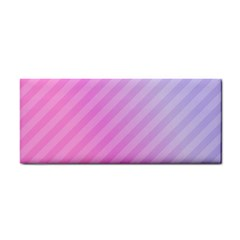 Diagonal Pink Stripe Gradient Cosmetic Storage Cases by Nexatart