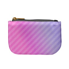 Diagonal Pink Stripe Gradient Mini Coin Purses