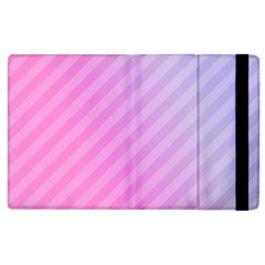 Diagonal Pink Stripe Gradient Apple Ipad 2 Flip Case