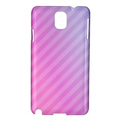Diagonal Pink Stripe Gradient Samsung Galaxy Note 3 N9005 Hardshell Case by Nexatart