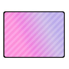 Diagonal Pink Stripe Gradient Double Sided Fleece Blanket (small)  by Nexatart