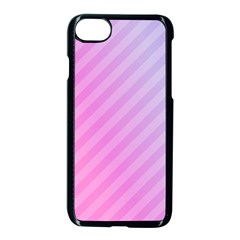 Diagonal Pink Stripe Gradient Apple Iphone 7 Seamless Case (black)