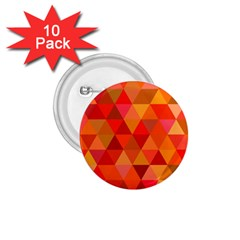 Red Hot Triangle Tile Mosaic 1 75  Buttons (10 Pack) by Nexatart