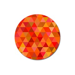 Red Hot Triangle Tile Mosaic Magnet 3  (round)