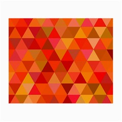 Red Hot Triangle Tile Mosaic Small Glasses Cloth (2 Side) by Nexatart