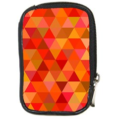 Red Hot Triangle Tile Mosaic Compact Camera Cases by Nexatart