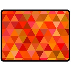 Red Hot Triangle Tile Mosaic Fleece Blanket (large)