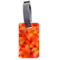 Red Hot Triangle Tile Mosaic Luggage Tags (two Sides) by Nexatart