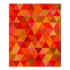 Red Hot Triangle Tile Mosaic Shower Curtain 60  X 72  (medium)