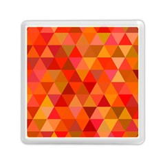 Red Hot Triangle Tile Mosaic Memory Card Reader (square)  by Nexatart
