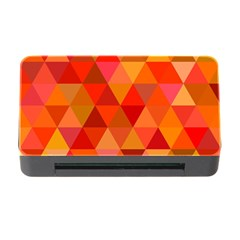 Red Hot Triangle Tile Mosaic Memory Card Reader With Cf by Nexatart