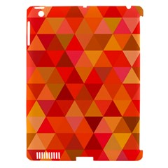 Red Hot Triangle Tile Mosaic Apple Ipad 3/4 Hardshell Case (compatible With Smart Cover) by Nexatart