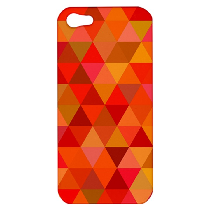 Red Hot Triangle Tile Mosaic Apple iPhone 5 Hardshell Case