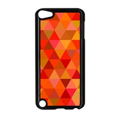 Red Hot Triangle Tile Mosaic Apple Ipod Touch 5 Case (black) by Nexatart