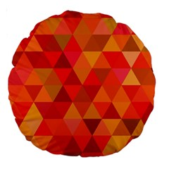 Red Hot Triangle Tile Mosaic Large 18  Premium Round Cushions by Nexatart