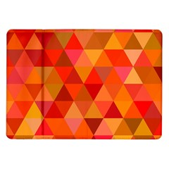 Red Hot Triangle Tile Mosaic Samsung Galaxy Tab 10 1  P7500 Flip Case by Nexatart