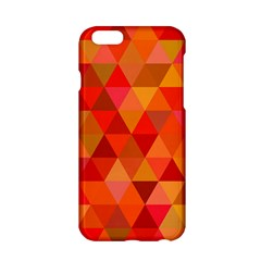 Red Hot Triangle Tile Mosaic Apple Iphone 6/6s Hardshell Case by Nexatart