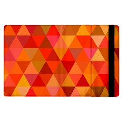 Red Hot Triangle Tile Mosaic Apple Ipad Pro 9 7   Flip Case by Nexatart